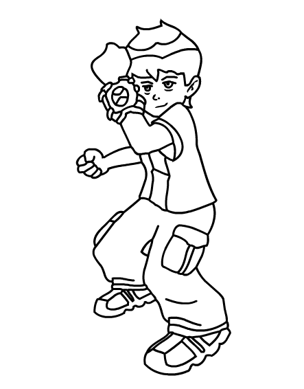 Printable Colouring Ben 10 Printable Coloring Pages