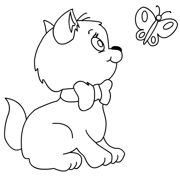 Free Coloring Pages Of Cute Kittens And Puppies