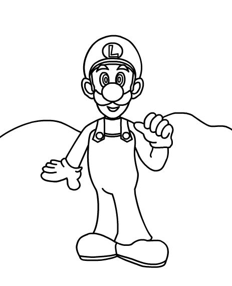 luigi coloring pages printable - photo#36