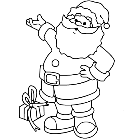 Satisfactory image intended for printable santa claus