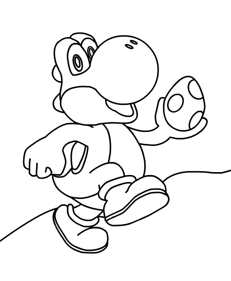 Super mario printables for Mario coloring pages yoshi