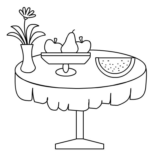 праздничный стол раскраска ютуба будет
